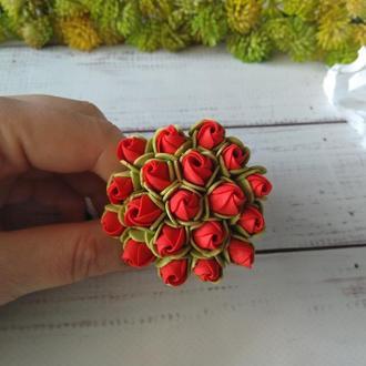 """Резинка для волос """"Букетик тюльпанов"""" из фоамирана"""