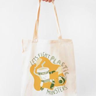 """Еко-сумка """"Пластиковий монстр"""""""