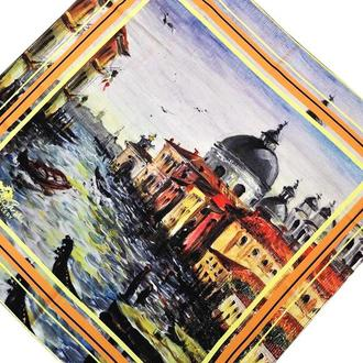 Дизайнерский шелковый платок Венеция