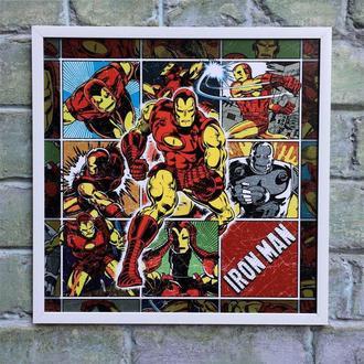 """Постер на ПВХ 3 мм. в рамке """"Железный человек"""" (Iron man retro)"""