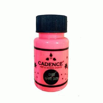 Краска светонакопительная Cadence Glow In The Dark Розовая (579) 50 мл