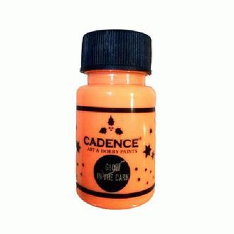 Краска светонакопительная Cadence Glow In The Dark Оранжевый (580) 50 мл