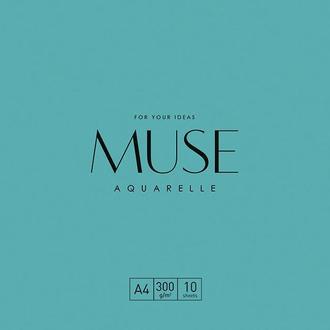 Папка для акварели MUSE Aquarelle A4 (21х29.7см) 300 г/м2 10 листов (PD-A4-043)