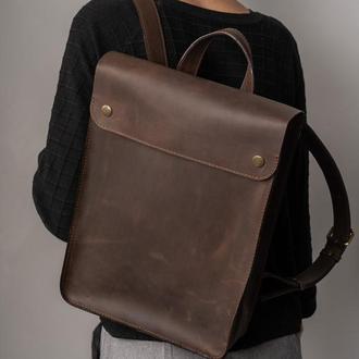 Кожаный рюкзак, городской рюкзак из натуральной кожи, подарок парню, оригинальный рюкзак