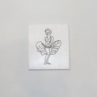 Картина Мерлин монро  из проволоки