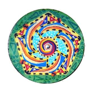 """Декоративная тарелка диаметром 38 см  """"Колокол"""" шамотной трипольской глины станет изысканным"""