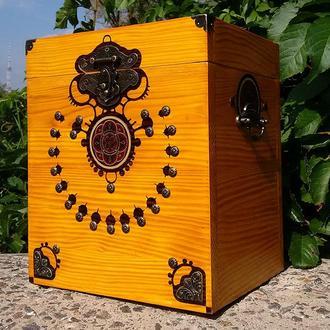 Сундук короб декоративный деревянный