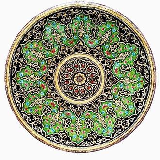 Декоративна тарілка діаметром 42 см «Промінь» трипільської глини стане вишуканим