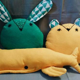 Скандинавские друзья- декоративные подушки ручной работы