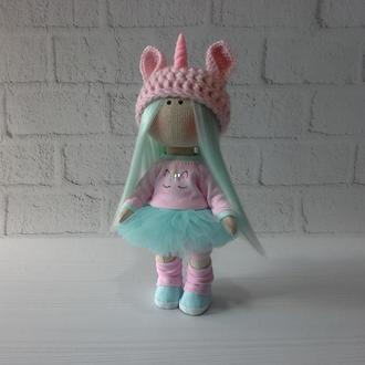 Текстильная кукла Единорог
