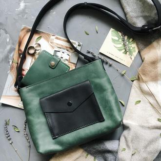 Женская сумка Art Pelle Bossy зелёная (Crazy Horse)