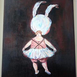 """Копия картины Гапчинской """"Девочка..."""""""