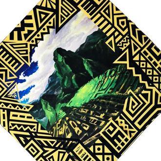 Дизайнерский шелковый платок Мачу-Пикчу