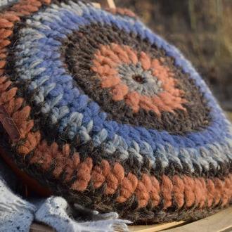 Вовняна декоративна подушка