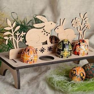 Деревянная подставка для пасхальных яиц, пасхальный декор, Пасха
