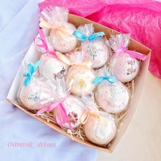 Набор релакс-бомбочек для ванн «Ароматная фантазия», подарок для девушки, сестры, женщины