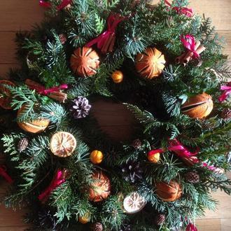 Рождественские веночки,ручная работа,натуральные материалы