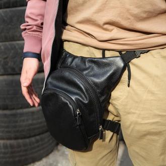 Кожаная сумка для мотоцикла на ногу