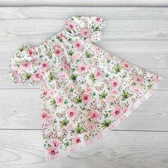 """Летнее детское платье """"Розовые цветы"""""""