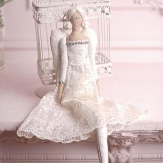 Кукла в стиле Тильда  Ангел 48см ВНИМАНИЕ БОНУС !!!
