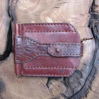 картхолдер с зажимом для купюр зажим для денег картхолдеры кожаные недорогие подарки