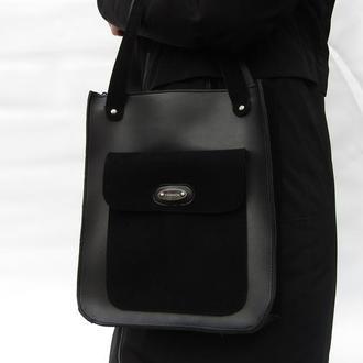 Деловая черная сумка