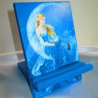 Настольная подставка,держатель ′Лунная фея′ для телефона,смартфона,планшета