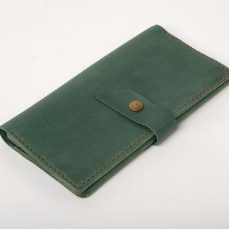 Шкіряне портмоне «Promo Green»