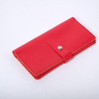 Шкіряне портмоне «Promo Red»