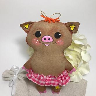 Игрушка Свинка , Поросенок с ароматом кофе