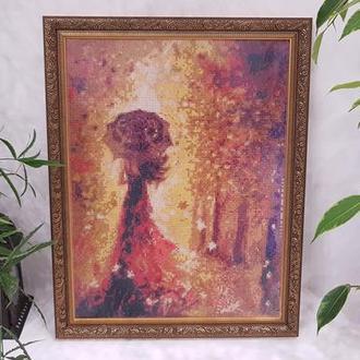 """Мечтательная осень... Картина в технике """"алмазная вышивка"""""""