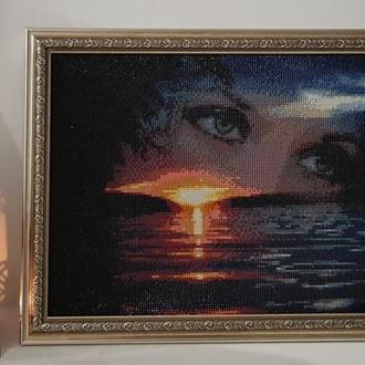 """Романтика заката... Картина в технике """"алмазная вышивка"""""""