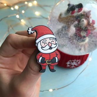 "Значок из дерева ""Санта-Клаус"""