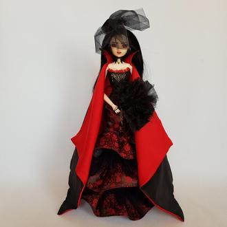 Коллекционная кукла вампир, готическая принцесса Виаленна