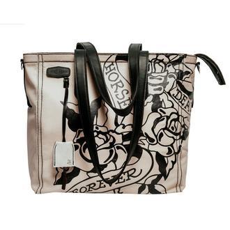 Жіноча біла шкіряна сумка шопер | Charlotte tote tattoo white bag