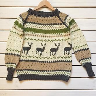 Оленевый свитер