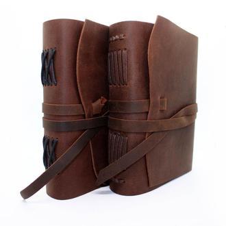 Блокнот А5  COMFY STRAP оригинальный подарок из натуральной кожи