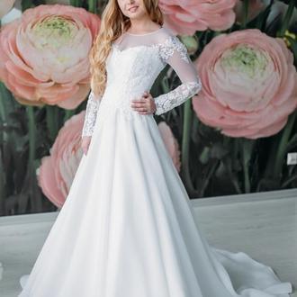 Свадебное платье А-силуэт 01-01