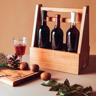 Ящик с ручкой для вина. Модель Torbato.