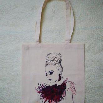 Эко-сумочка с художественной росписью!