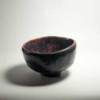 "Work no. 279W — chawan (чаша, тяван, чаван для матча) ""Bowed Bowl"", tea bowl in japanese style"