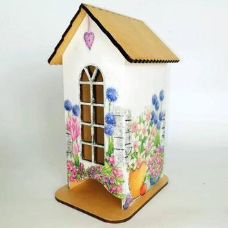 Чайный домик ручной работы (домик для пакетиков чая)