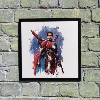 """Постер на ПВХ 3 мм. в рамке """"Железный Человек"""" (Iron Man)"""