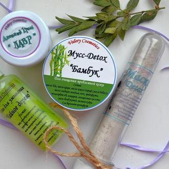"""Набор для проблемной кожи """"Бамбук+лавр+чайное дерево=Detox"""""""