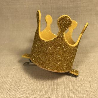 Заколка прищепка корона