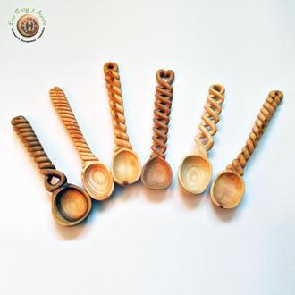 Набор деревянных ложек из груши