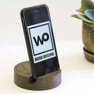 Деревянная подставка под телефон планшет