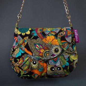 """Женская сумочка """"Совы"""""""