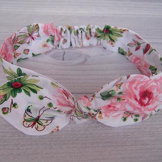 """повязка солоха""""Розовые цветы"""""""
