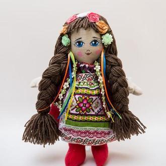 Мягкая кукла Vikamade Украинка тип шарнирная девочка.